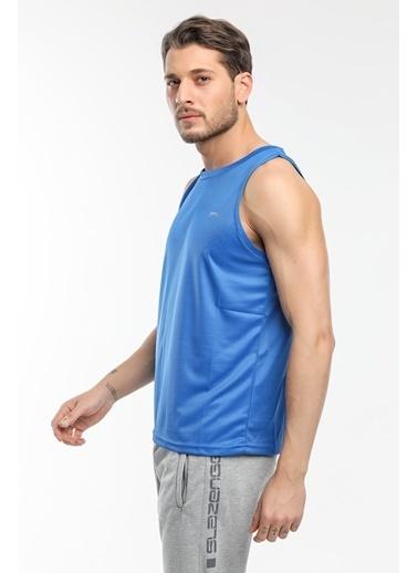 Slazenger Slazenger RUN I Erkek T-Shirt  Mavi